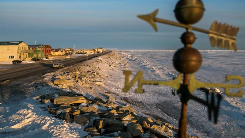 A frozen beach on the Bering Sea coast, where a NOAA reports identified a decrease in a 'cold pool', which used to be a dependable mass of very salty frigid water down to the seafloor [File: Nathaniel Wilder/Reuters]