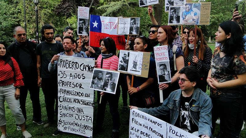 Why Chile protesters say state security law criminalises protests