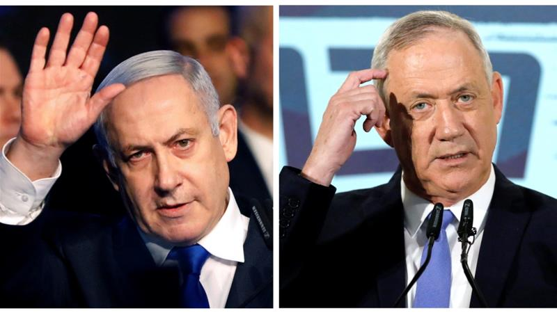 Israeli media broadly agreed talks had all but collapsed and Israel's weary electorate would be asked to go to the polls for a third time in 12 months [File: Nir Elias, Amir Cohen/Reuters]