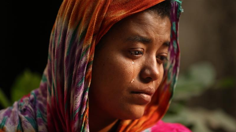 Ruma lost her husband Alam, who worked in the plastic factory for five years [Mahmud Hossain Opu/Al Jazeera]