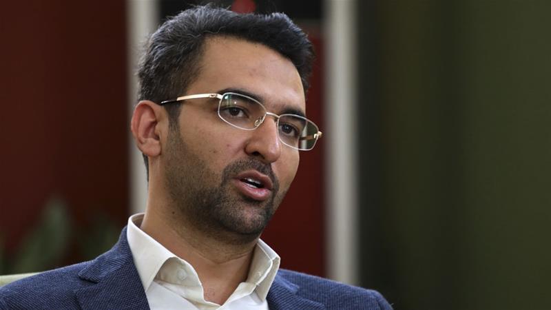 Mohammad Javad Azari Jahromi made the announcement in a short Twitter post [File: Vahid Salemi/AP]