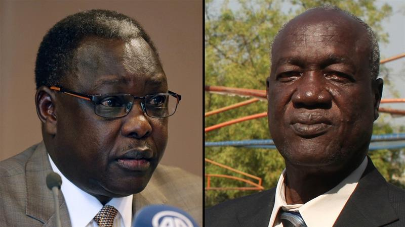 The US Treasury Department accused Elia Lomuro (L) and Kuol Manyang Juuk (R) of perpetuating the conflict by obstructing the peace process [Reuters]