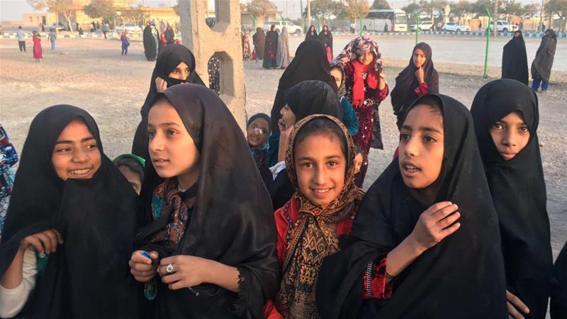 Afghan refugee girls gather at the Bardsir settlement for Afghan refugees in Kerman province, Iran on October 22, 2016 [File: Reuters/Gabriela Baczynska]