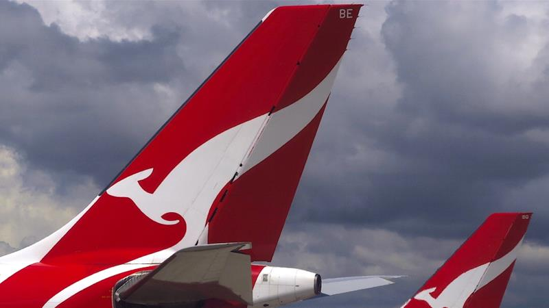 Along with other airlines around the world, Qantas is battling against a huge drop in demand after countries including Australia closed their borders to try contain the global pandemic [File: David Gray/Reuters]
