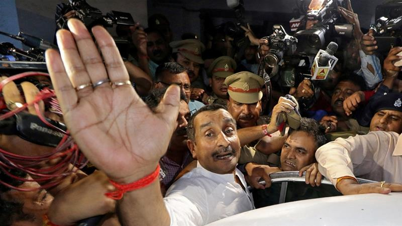 Sengar is the highest-ranking Indian politician to get such a significant jail term in recent years [File: Pawan Kumar/Reuters]
