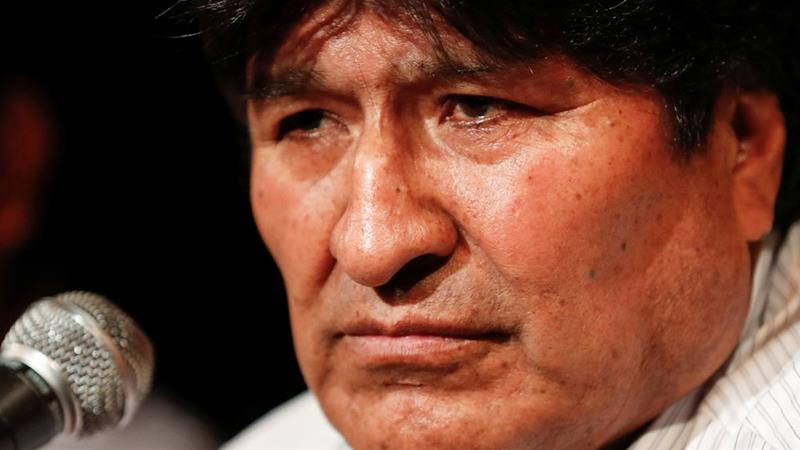 Morales resigned as president in November after almost         three weeks of protests [File: Agustin Marcarian/Reuters]