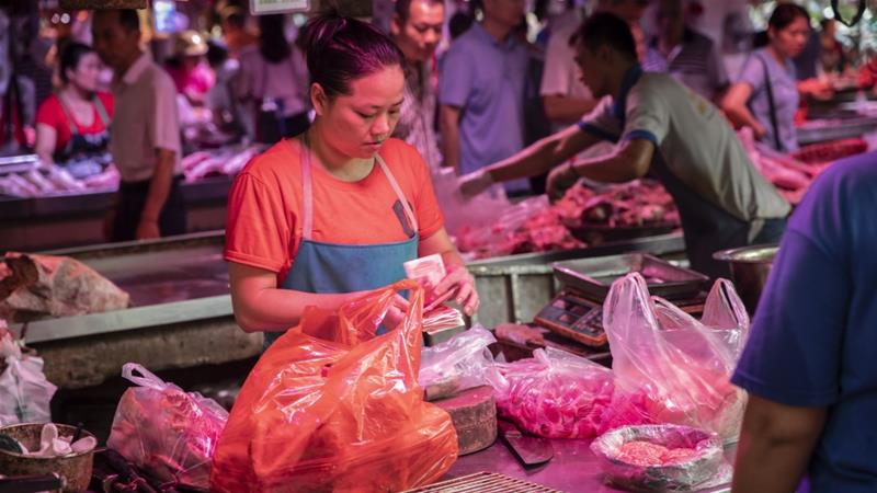 China inflation fastest since 2012 on surging pork prices