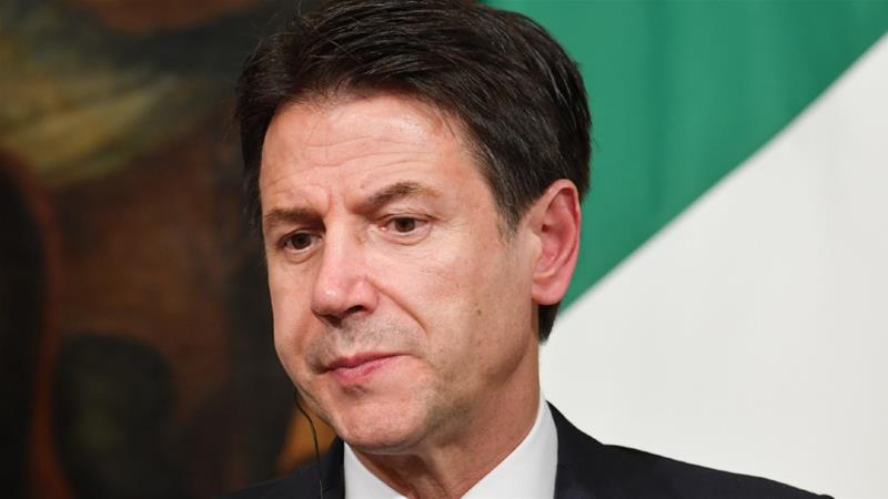 Italy's Prime Minister Giuseppe Conte, who returned to power to lead a coalition government, says it is in Italy's best interest to contest the reform of the eurozone bailout fund [Andreas Solaro/AFP]