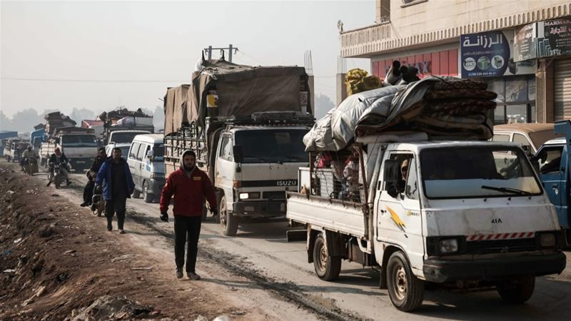 Relief group: 216,000 have fled their homes in northwest Syria