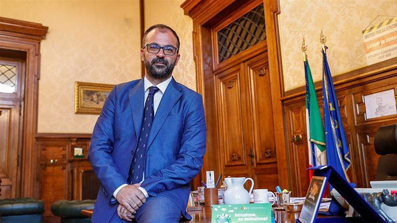 In a blow to Italy's government, Education Minister Lorenzo Fioramonti resigned after failing to obtain billions of euros from the government  to improve the country's schools and universities [File: Remo Casilli/Reuters]