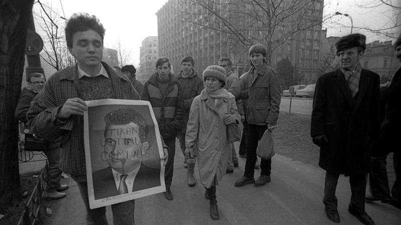 In December 1989, Romania was shaken by 10 days of protests that led to the fall of Europe's last communist leadership [Srdjan Zivulovic/Reuters]