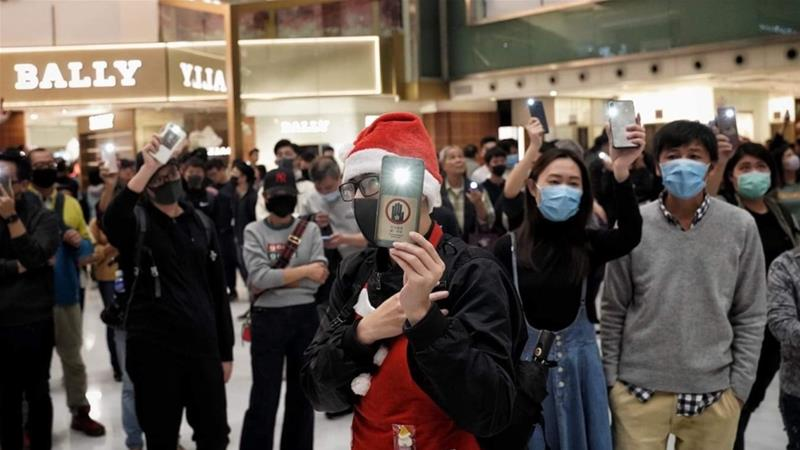 Hong Kong residents say they have less appetite to celebrate the holidays this year amid violent crackdown on protesters [Al Jazeera]