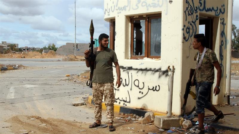 Forces loyal to the UN -backed Government of National Accord (GNA), based in Tripoli, have accused rival armed groups answering to eastern renegade military commander Khalifa Haftar of hitting a 'civilian area' [File: Mahmud Turkia/AFP]