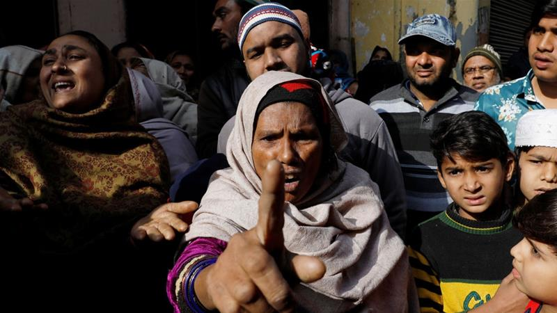 Saira, mother of Aleem Ansari, who died during protests in Meerut in the northern state of Uttar Pradesh [Adnan Abidi/Reuters]