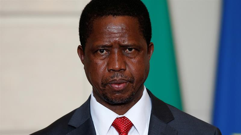 Zambian President Edgar Lungu also ordered a pay cut of between 15-20 percent for himself and members of his cabinet in the wake of higher fuel and crude oil prices  [File: Philippe Wojazer/Reuters]