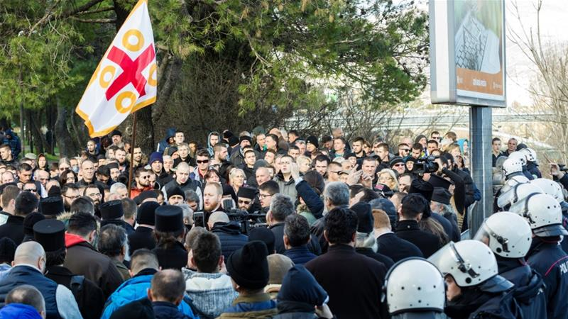 Montenegro police ban rally against religion bill