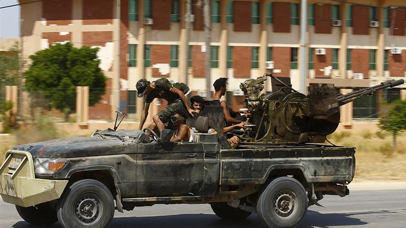 On Friday, the GNA forces announced they had made progress in the Tripoli airport area and captured 10 LNA soldiers south of the capital [File: Mahmud Turkia/AFP]