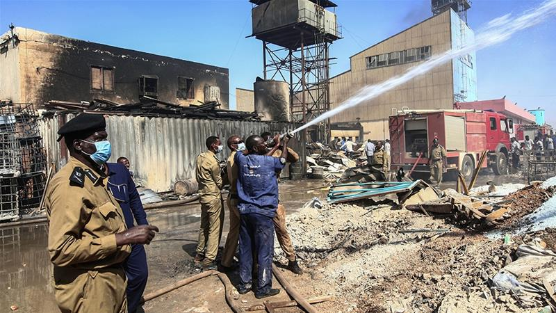 More than a dozen people killed in Sudan factory fire