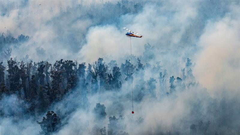Australia's Rural Fire Service has been battling bushfires for weeks in a fire season that began even before the start of the summer [Department of Environmen/AFP]
