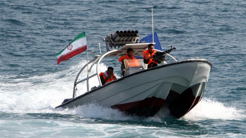 The Revolutionary Guards said the unnamed vessel was spotted 15 nautical miles from Abu Musa island [File: Abedin Taherkenareh/EPA]