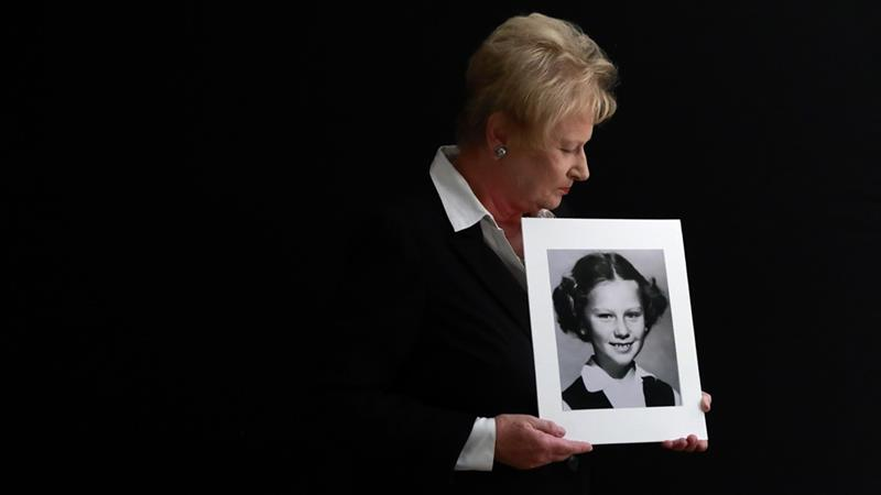 Nancy Holling-Lonnecker, 71, claimed a priest repeatedly raped her in a confession booth beginning when she was seven years old [Gregory Bull/AP]