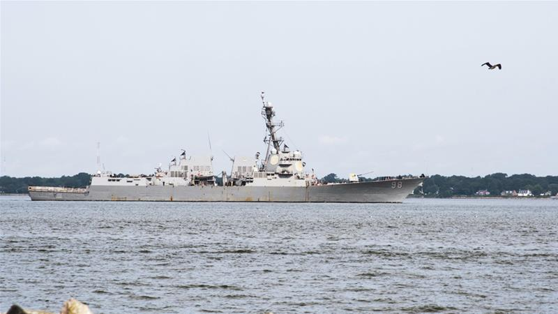 United States warship in Arabian Sea seizes missile parts of suspected Iran origin