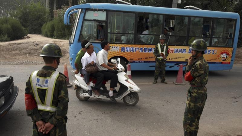 Reports say at least one million Muslim Uighurs are being forcibly detained in camps in Xinjiang province [File: Ng Han Guan/AP]