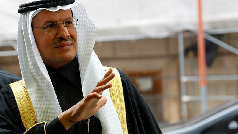 Saudi Arabia's Minister of Energy, Prince Abdulaziz bin Salman, arrives Thursday at the Vienna headquarters of OPEC, which is scheduled to meet on Friday with Russia and other producers - a grouping known as OPEC+ [File: Leonhard Foeger/Reuters]