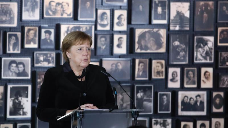 Germany's Merkel expresses 'deep shame' during Auschwitz visit