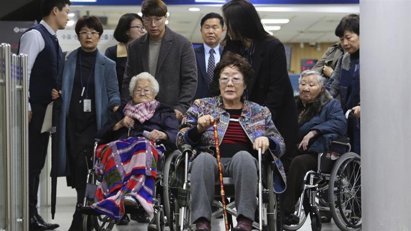 Diplomatic relations between Japan and South Korea have worsened since the top court in Seoul ruled in favour of the women seeking compensation from Japanese firms for wartime forced labour [File: Ahn Young-joon/AP]