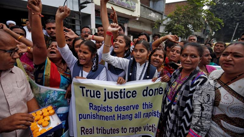 According to India's National Crime Records Bureau more than 33,000 women were raped in the country in 2017 [File: Amit Dave/Reuters]