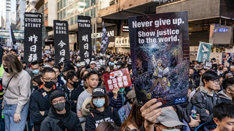Giant rally marks six months of Hong Kong's democracy protests