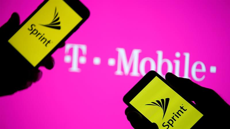 The companies argue that the stronger T-Mobile that would result from the proposed $26.5bn takeover of Sprint would be better able to innovate and compete to push down wireless prices [File: Dado Ruvic/Illustration/Reuters]
