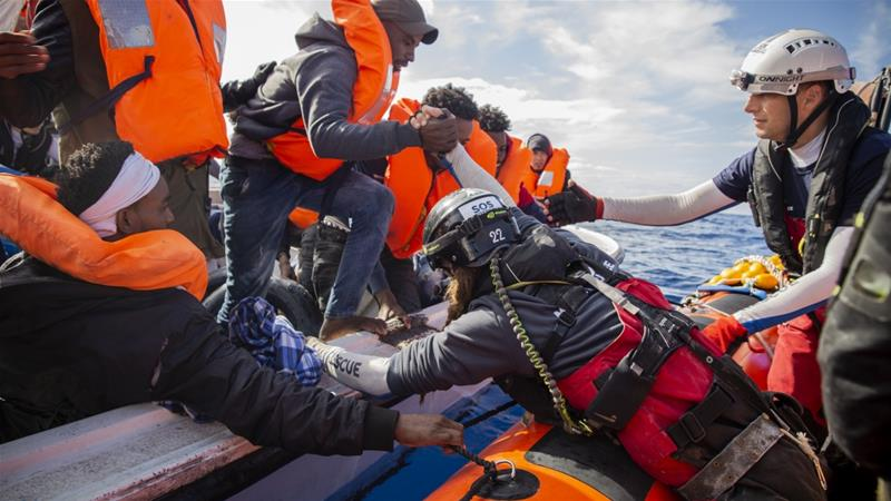 Rescued migrants attempt suicide on board Ocean Viking