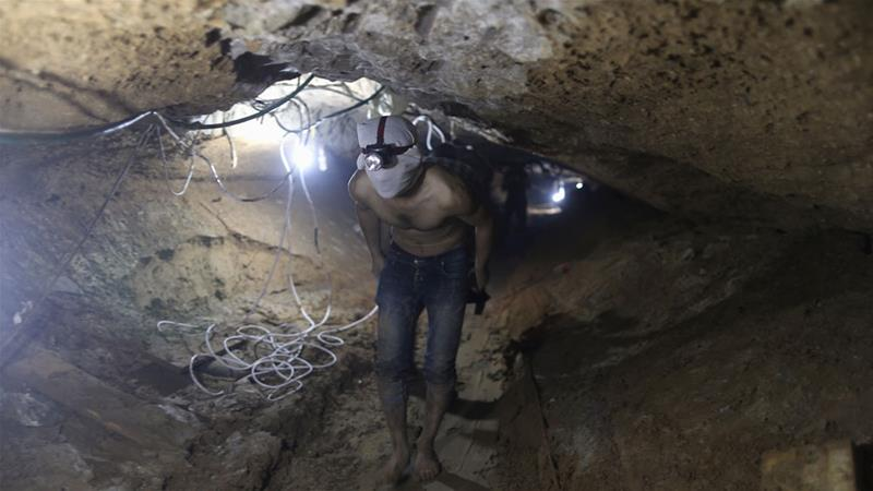 Tunnels beneath the border  are used to smuggle goods between Egypt the and southern Gaza Strip [File: Mohammed Salem/Reuters]