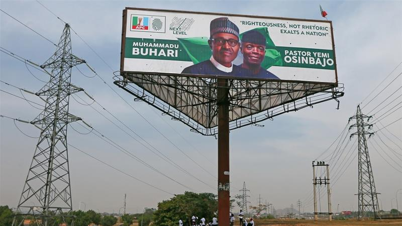 Buhari is hoping to win a new term in a presidential election scheduled to take place on Saturday [File: Afolabi Sotunde/Reuters]
