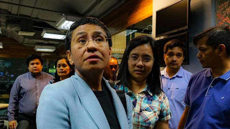 Journalist Maria Ressa Arrested for 'Cyber Libel' in the Philippines