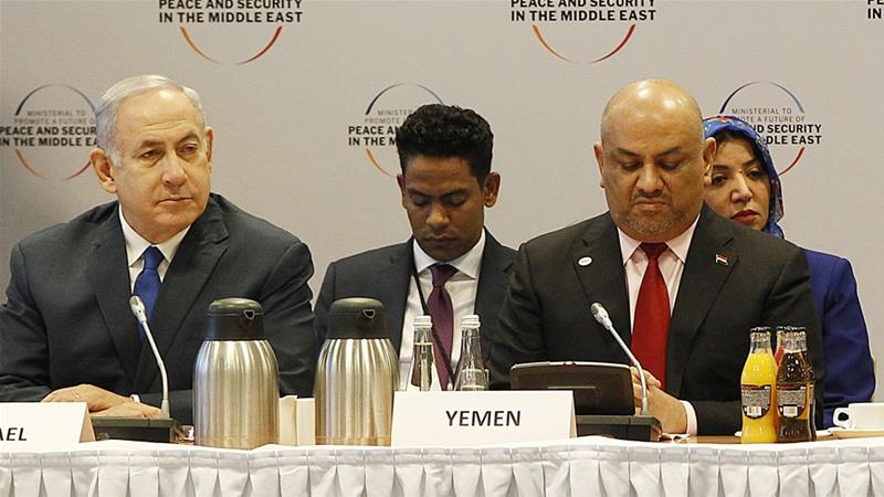 According to US officials, Yemen's foreign minister gave his microphone to Israel's prime minister when his wasn't working [Czarek Sokolowski/AP]