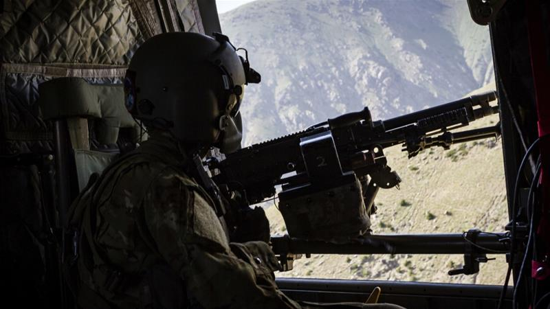 The United States has about 14,000 soldiers currently stationed in Afghanistan [AP]
