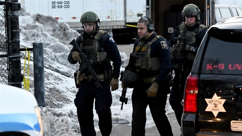 Police said the gunman killed five people after being fired from his job [Matt Marton/ AP Photo]