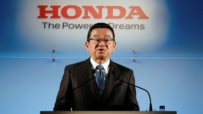 Takahiro Hachigo, Honda Motor chief executive, says the decision to close the UK plant is not related to Brexit [Kim Kyung-hoon/Reuters]