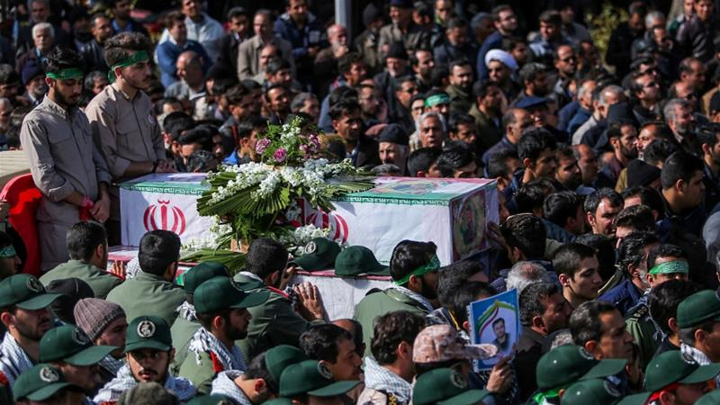 27 members of Iran's elite Revolutionary Guards were killed in the February 13 attack and more than a dozen others wounded [Morteza Salehi/Tasnim News Agency via Reuters]