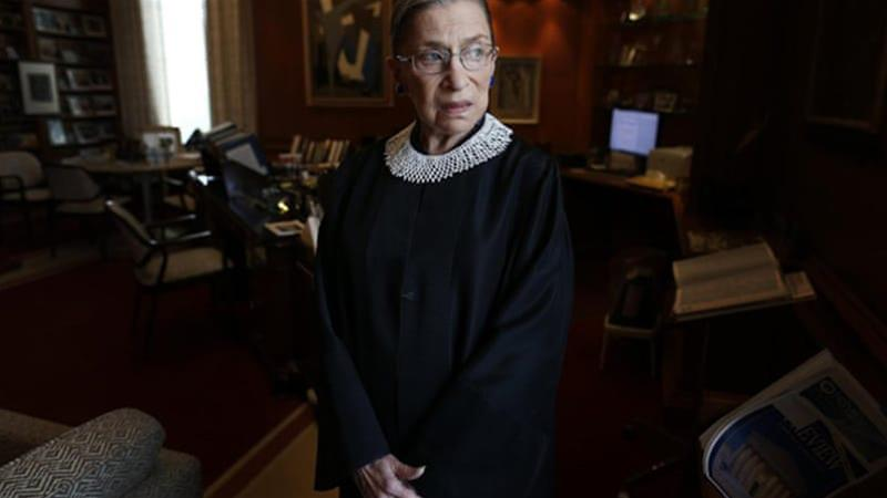 Justice Ginsburg is the second female to serve on the US's top court [File: AP]