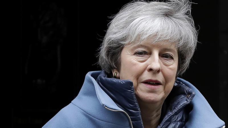 Britain's Prime Minister Theresa May says she is'saddened by the MPs decision to leave the party