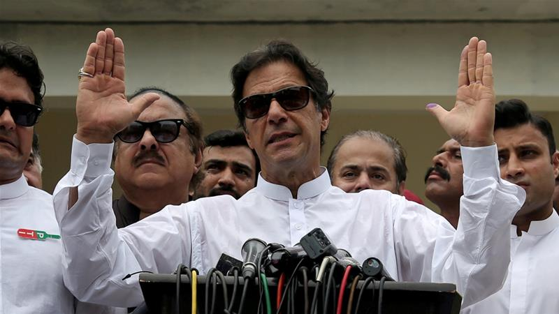Imran Khan had offered to hold talks with India even as he warned New Delhi to refrain from launching any attacks [File: Athit Perawongmetha/Reuters]