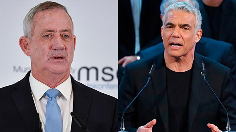 Benny Gantz of the Resilience party and ex-finance minister Yair Lapid head of the Yesh Atid party have announced an alliance