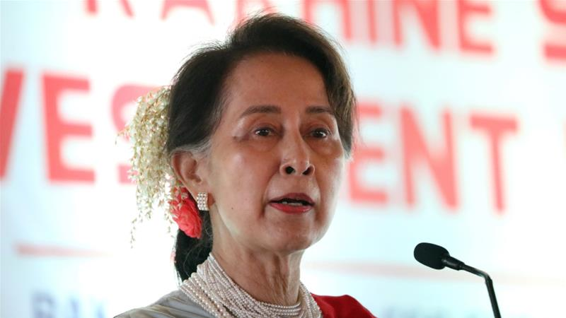 Aung San Suu Kyi has failed to criticise the violence committed against Myanmar's Rohingya minority [Ann Wang/Reuters]