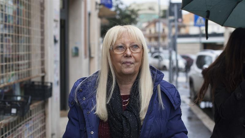 Retired government employee Daniela Boni says the EU 'doesn't help us, it just imposes rules' [Ylenia Gostoli/Al Jazeera]