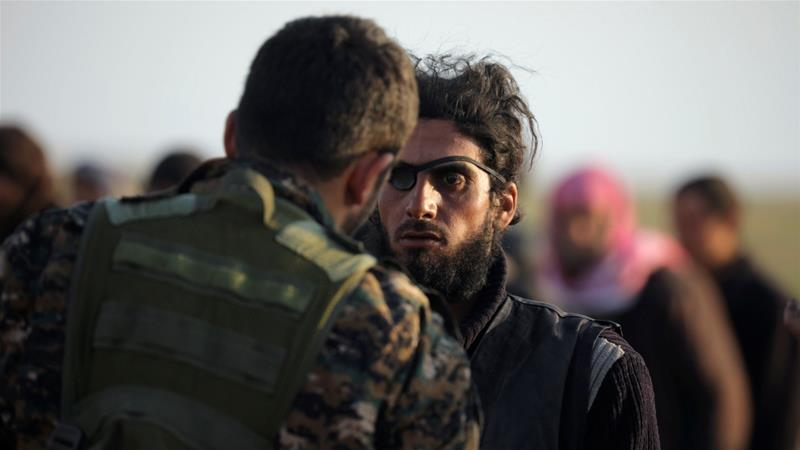 US-backed SDF has screened those fleeing Baghouz in a bid to weed out potential ISIL members [Rodi Said/Reuters]