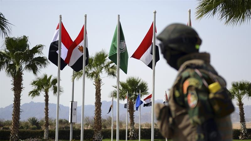 The two-day summit in Egypt's Sharm el-Sheikh aims to 'strengthen Arab-European ties', according to an EU statement [Mohamed el-Shahed/AFP]